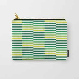 Staggered Green Stripes Carry-All Pouch