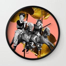 Carousel - Gold Wall Clock
