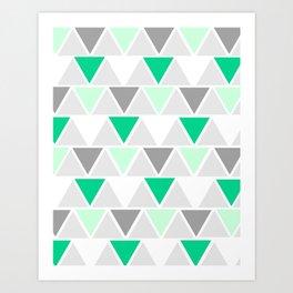 Directions - green Art Print