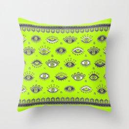 Eye Spy Fluorescent Throw Pillow