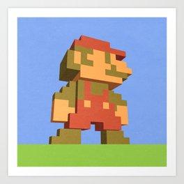 Mario NES nostalgia Art Print