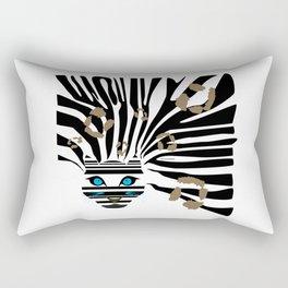 Leopard Zebra crossover Rectangular Pillow