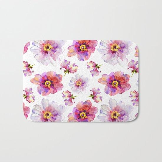 Delicate Floral Pattern 03 Bath Mat