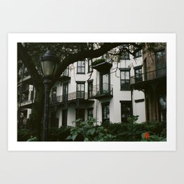 White Brooklyn Building Art Print