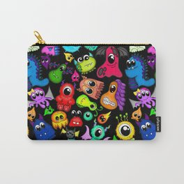Little Monsters- Black Carry-All Pouch