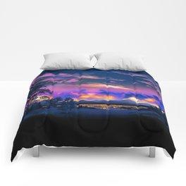 Night Sky Sunset Comforters
