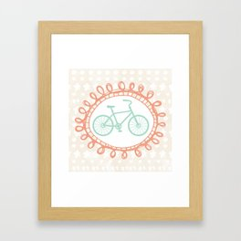 Oui Oui Mon Cheri Mint Bicycle Wall Art Framed Art Print