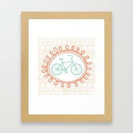 Oui Oui Mon Cheri Mint Bicycle Wall Art Framed Art Print