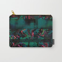 Flora Celeste Jade Glitch Carry-All Pouch
