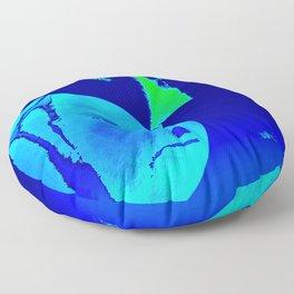 Silk Faces: Midnight Floor Pillow
