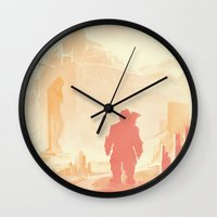 dragon age inquisition Wall Clocks featuring Dragon Age: Varric by Sara Cuervo