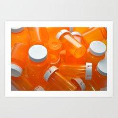 Pill Bottles Art Print