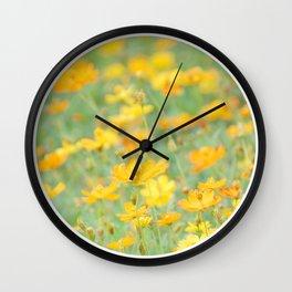 Small yellow flower Wall Clock