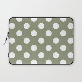 Artichoke - grey - White Polka Dots - Pois Pattern Laptop Sleeve