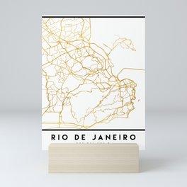 RIO DE JANEIRO BRAZIL CITY STREET MAP ART Mini Art Print