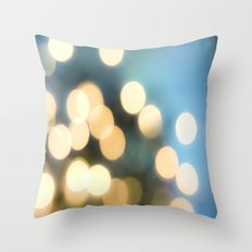 Winter Bokeh  Throw Pillow