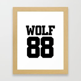 EXO WOLF 88 Framed Art Print