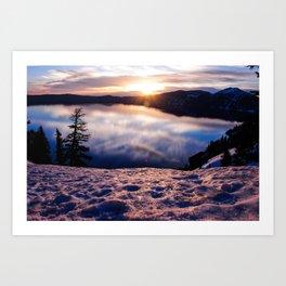 Sunrise at Crater Lake, Oregon Art Print