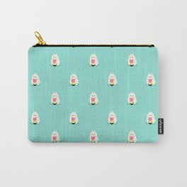 Fat bunny eating noodles pattern Carry-All Pouch