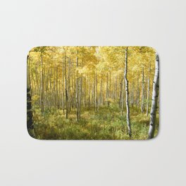 Yellow Aspens II Bath Mat