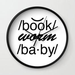Bookworm Baby Wall Clock