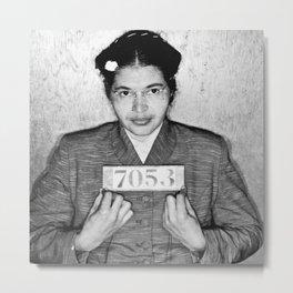Rosa Parks Mugshot Metal Print