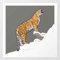 The Wild Ones: Siberian Tiger (illustration) Art Print