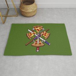 Ninja Pizza Rug