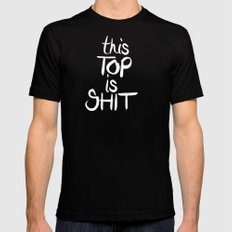 This is... Black MEDIUM Mens Fitted Tee