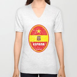 World Cup Football 8/8 - Espana (Distressed) Unisex V-Neck