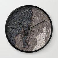 shadow Wall Clocks featuring Shadow by dominiquelandau