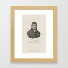 Portrait of Cornelius Henricus to Roy, Dirk Sluyter, after Jan Adam Kruseman, 1810 - 1835 Framed Art Print
