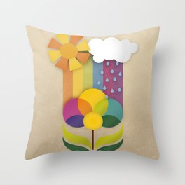 Daisy Showers Throw Pillow