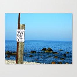 Town Beach Canvas Print