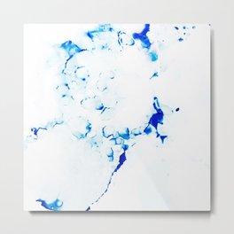Blue Microcosmos Metal Print