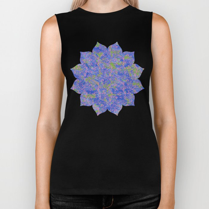 Shoots, Stems and Leaves abstract Biker Tank