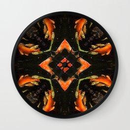Swirling Koi Wall Clock