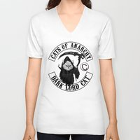 sons of anarchy V-neck T-shirts featuring Cats of Anarchy by Dark Lord Pug