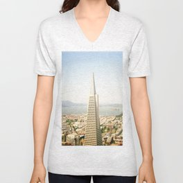 Transamerica Pyramid, San Francisco Unisex V-Neck