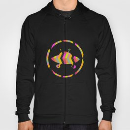 colorful pattern and ufo 1 Hoody