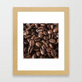 coffee bean macro II Framed Art Print