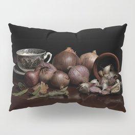 Still life of garlic and onions Pillow Sham