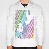 pandas Hoodies featuring colourful pandas  by Dal Sohal