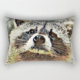 Toony Racoon Rectangular Pillow