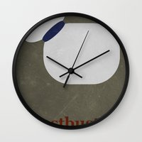 ghostbusters Wall Clocks featuring Ghostbusters by Matt Bacon
