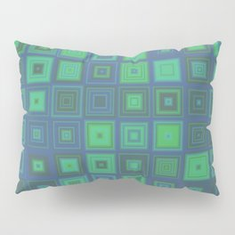 Green Abstract Square Pattern Pillow Sham