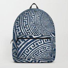 Circular Greek Meander Pattern - Greek Key Ornament Backpack