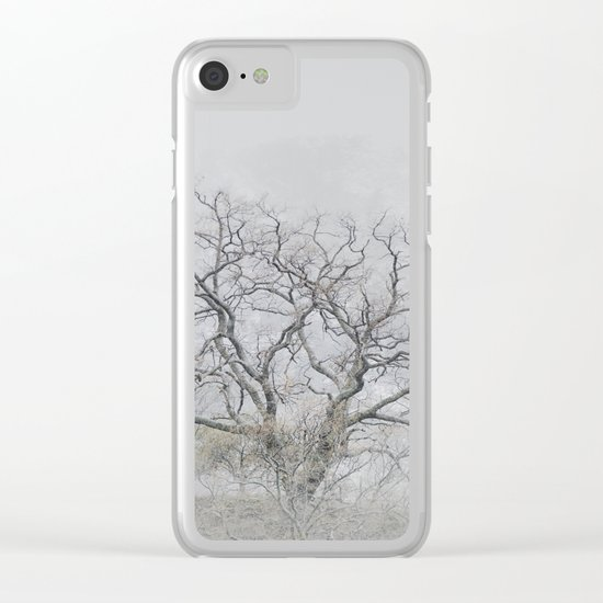 """""""King of the Mountain"""". Foggy and snowy mountain. Clear iPhone Case"""