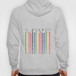 Gorgeous Colorful Stripes LOVE Typography Hoody