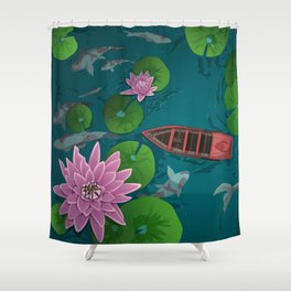 A moment of calm Shower Curtain